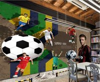 asia cup - 3d wallpaper custom photo non woven mural The football World Cup star room decoration painting d wall murals wallpaper for walls d