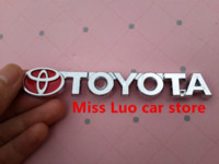 Wholesale 3D Toyota logo Car Stickers Emblem Badge Decals for for Camry Yaris Vios RAV4 Corolla Reiz
