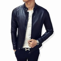 Wholesale Fall Men s Leather Jackets Autumn And Winter Faux Leather Motorcycle Jackets Leather Outerwear For Male Clothing Big Size
