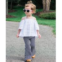 bell boots - Hug Me Kids Pants for Girls New Children s Clothes Fashion Bell Bell Bottoms Stripe Girls Tassels Long Pants MK