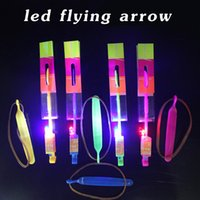 Wholesale 100PCS Flying Arrow Helicopter LED Light Arrow Rocket Helicopter LED Flying Toys LED Flashing Toys Christmat Gift Toys FG02