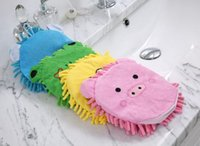 Wholesale Fashion Car Brushes Gloves Cartoon One Side Coral Wash Mitt Car Wash Tools Car Care Brush T100518