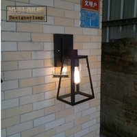 Wholesale American retro simple character Wall lamp Wall lamp outdoor antique wall lamps loft industrial iron outdoor lights waterproof