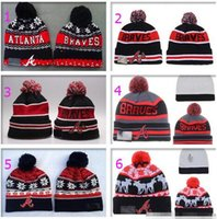 atlanta beanie - Album Offered New Wool Hats For Men Women Pom Beanies Knitted Hats Skull Snapbacks Cap Edmonton Caps New Atlanta Braves Baseball Hat