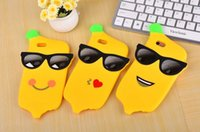 """Cheap Newest 3D Cartoon Banana Glasses Cases Silicone Rubber Soft Case Cover for iPhone 6 6S 4.7"""" 6S Plus 5.5"""" Cute Protector"""