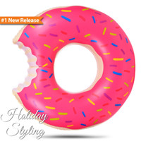 Wholesale cm Donut Swimming Float Inflatable Swimming Ring Swimming pool for children Life buoy Beach Toys Summer toys