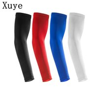 Wholesale Man summer Sunscreen exercise Sports Protective Basketball Lengthen Armguards Forearm Elbow Pad Sleeve cycling Arm Warmers