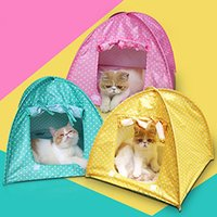 bedding for dog houses - Tent House Camp Water Resistant Cute Dots Style Pet House Tent for Small Size Dogs and Cat