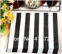 Wholesale Snowman Black Striped Flower LOVE Paper Napkins Festive Party Paper Crafts cm cm Wedding BABY Shower Serviette Tableware Favor Supplies
