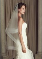 applique cutting - 2016 romantic Cheap Wedding Veils Paloma Blanca Ivory White Bridal Veils Layers Fingertip Length Tulle Bridal Accessories Under