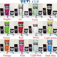 Wholesale 800ml Yeti oz Yeti Coolers cups oz powder Coated stainless steel YETI Rambler Tumbler Travel Vehicle Beer Mug Bilayer Vacuum Insulated