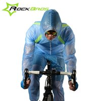 Wholesale ROCKBROS Outdoor Riding Mountain Bicycle Bike Cycling Raincoat Breathable Compressed Windshield Waterproof Raincoat Suit Colors B082
