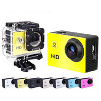 Wholesale 2016 Gopro Waterproof Sports Cam SJ6000 Style W9 HD Action Camera Diving Wifi P M quot View DV HDMI Camcorders DHL Colorful