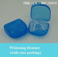Wholesale Hot sale thermo plastic teeth whitening denture care clear transparent color retail packing teeth care tools
