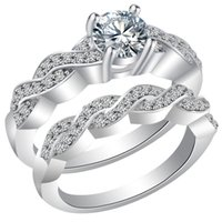 Wholesale Super Shinny pairs a The new multi jewelry CZ Ring Korean fashion jewelry ring set ring
