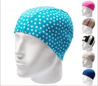 Wholesale Professional Swimming caps Waterproof swimming hats Comfortable elastic fiber swimming cap Hair care protect sports pool swim cap New