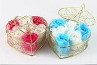 basket display - Gloden Basket Soap Flower handmade Soap Craft Soap Rose Soap Flower Wedding Favor Gift with gift box in basket