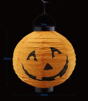 Wholesale Halloween Pumpkin Lantern Light Emitting Paper Lanterns Lanterns Lanterns Chinese Sytle Decorations