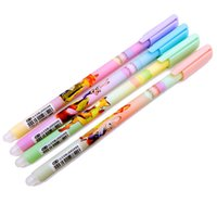 Wholesale Prettybaby kids zootopia printed gel ink pens black and blue color cartoon mm Frixion ball pen children fun toys stationery Pt0469