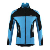 anti reflective coating - ARSUXEO Blue Cycling jersey Thermal Cycling Jacket Winter Warm Up Bicycle Clothing Windproof Waterproof Sports Coat MTB Bike Jersey F