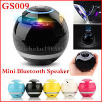 ball audio speakers - Newest GS009 Mini Ball Portable Wireless Bluetooth Speakers Handfree MIC Support TF Card FM Radio Super Bass Stereo Subwoofer Speaker BT