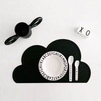 Wholesale 2016 Kids Cloud Tiny Diner Placemat Baby Table Mat Decoration Heat insulated Waterproof Tableware Silicone Plate Mat Table cm F779