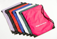 Wholesale 210D polyester gym bag simple backpack sport bag the game promotion products