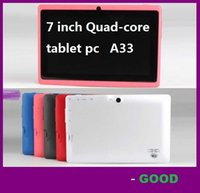 Wholesale 7 inch Capacitive Allwinner A33 Quad Core Android dual camera Tablet PC GB ROM MB WiFi EPAD Youtube Facebook Google
