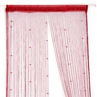 Wholesale Hangings Decoration String Curtain Beads Wall Panel Spangle Fringe Room Door Window Home Bedroom Living Room Divider Partition