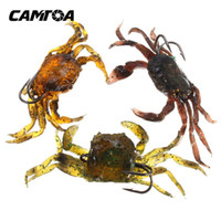 artificial crab - CAMTOA Soft Fishing Lures Crab artificial Bait with Sharp Hooks Fishing Tackle accessory tool