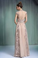 beaded silk chiffon fabric - Wedding Dresses Short Cap Sleeve dress Beaded Beading dress Embroidered Sash Fabric Button at Back Silk Chiffon Sexy Sweep Train Dress