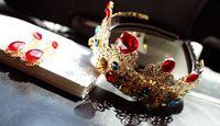 big hair photos - Europe and the United States big super flash goddess gem diamond crown hair hoop head band The bride photo studio headdress flower deserves