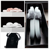 Wholesale Send With Original Boxes Leadcat Fenty Rihanna Shoes Women Slippers Indoor Sandals Girls Fashion Scuffs Pink Black White Size