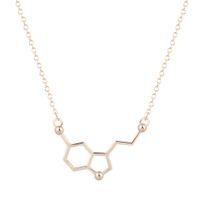 alloy chemistry - 10pcs New Style Everyday Chemistry Serotonin Necklace Serotonin Molecule Necklace Sister Gift Best Friend Gift