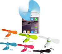Wholesale Mini USB Fan Pin Flexible Small scale Portable Super Mute Cooler Cooling For iPhone Samsung Android Cellphone