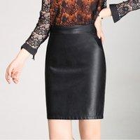 asian skirt - Hot Selling Women Pencil Skirt Lady s Sexy Straight High Waist Skirt Faux Leather Short Back Skirt Asian Size L XL XA0284