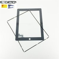 Wholesale For iPad Tablet Touch Screen Digitizer Glass Panel Black White Color M Adhesive Opening Tools free middle frame