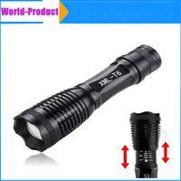 Wholesale Black UltraFire CREE XML T6 Lumen Aluminum Zoomable remote led flashlight battery LED Torch lamplight