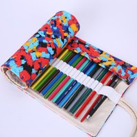 abstract curtains - Hole Abstract Colorful Painting Canvas Handmade Pen Curtain Impressionist Style Pencil Case Bag Stationery School Supply