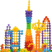 Wholesale 300Pcs Baby Kid Snowflake Creative Building Blocks Educational Toys Trendy A00048 SMAD