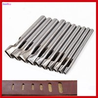 aluminum hardening - New set Sizes mm Flat Leather Hole Punch Chisel Hardened Leather Belt Hole Punch Maker Cutter