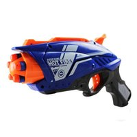 Wholesale Similar Plastic Launcher Hot Fire Gun Toy Pistol Gun With Soft Foam Eva Bullet Shoot Range Dart Gun Blaster Nerf Series A3845