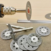 Wholesale NEW12 Rotary Tool Circular Saw Blades Cutting Wheel Discs Mandrel For Dremel Cutoff