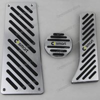 Wholesale No Drill styling Aluminum Foot Rest Pedals Gas Fuel Brake Pedal Automatic For For Benz Smart Fortwo Elf