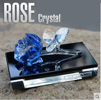 Wholesale Grade crystal roses car seat perfume perfumes car interior ornaments For BMW Benz Audi VW Ford