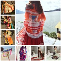 Wholesale pareo sarong blanket scarves Shawls Scarves Wraps Printed scarf fringe shawls scarves beach towel