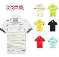Wholesale 2016Logo striped short sleeved brand men s t shirt lapel short sleeved T shirt foreign trade men s polo shirt s xxxl
