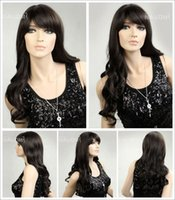 best wigs online - Ms oblique fashion fluffy bangs long hair long brown wigs hair weaves female wig online hot quality best selling hair wig