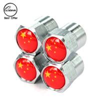air mixing valve - SILVER CHROME CHINA CHN CN FLAG WHEEL VALVE CAP TYRE STEM AIR CAPS for CRUZE CAROLA STI TRD UNIVERSAL MIX AVAILABLE