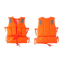 adult ski vest - Adult Polyester Safety Life Jacket Universal Swimming Underwater Drifting Boating Ski Surfing Vest With Whistle
